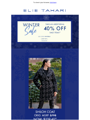 Elie Tahari - Extra 40% Off Coats, Sweaters and more....