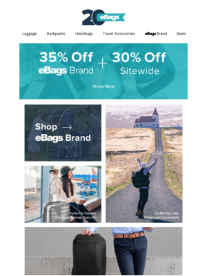 💥 LAST CALL 💥 35% OFF eBags BRAND + 30% OFF SITEWIDE!