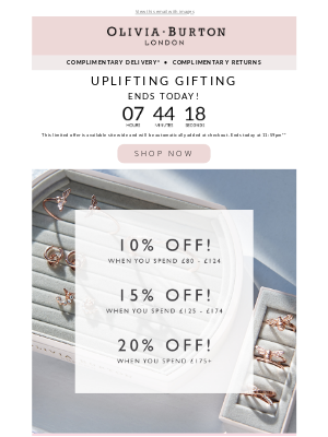 Olivia Burton - Buy more, save more ENDS TODAY! ⏰