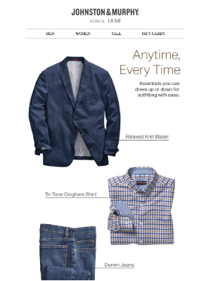 Johnston & Murphy - Head-to-Toe in J&M: Nail your outfit anytime, every time.