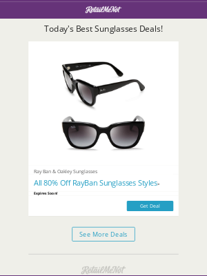 Animoto - Today's Special Deals! | Ray&Ban Sunglasses 80% OFF!