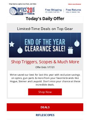 OpticsPlanet - Take Advantage of Huge Savings on Clearance Gear