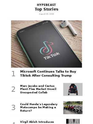 Your Weekly Round-Up: Microsoft Continues Talks to Buy Tiktok After Consulting Trump and More