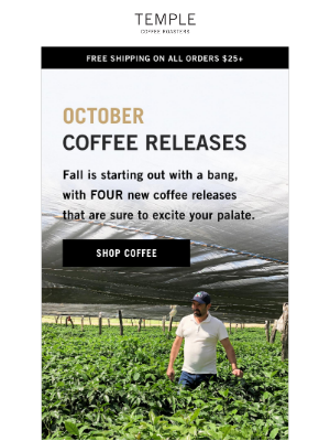 Temple Coffee Roasters - ☕️☕️ Four NEW Coffees ☕️☕️
