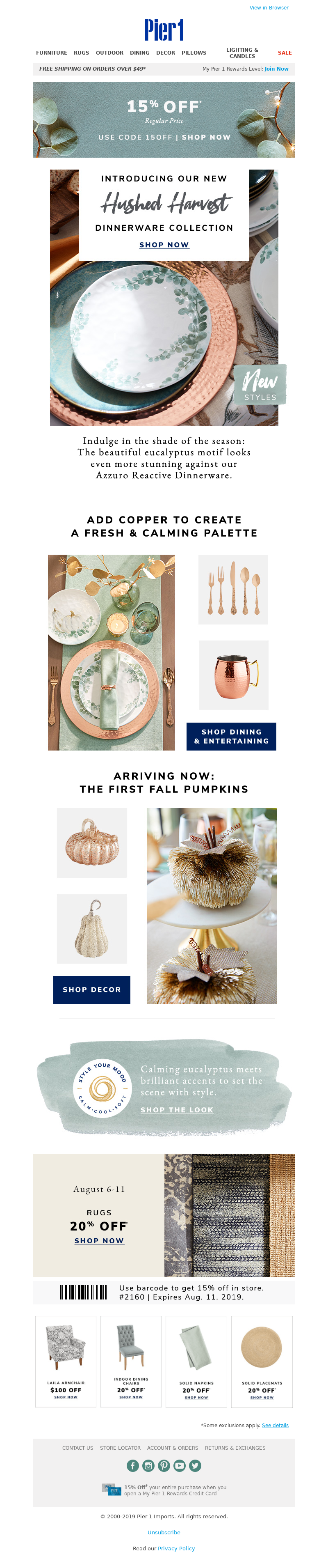 Pier 1 Imports - The shade of the season is S-T-U-N-N-I-N-G in our new Hushed Harvest Dinnerware.