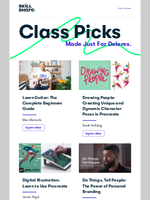 Skillshare - Delores's' Personal Class Recommendations