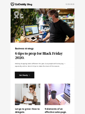 GoDaddy - Prep your shop for Black Friday 2020 success.