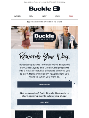 The Buckle - Our Rewards Program Got an Upgrade