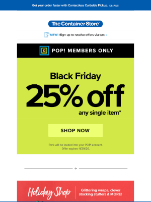The Container Store - BLACK FRIDAY: NOW!