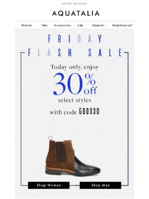 Aquatalia - 30% Off Select Styles Today Only