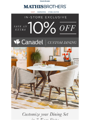 Save an EXTRA 10% OFF Canadel