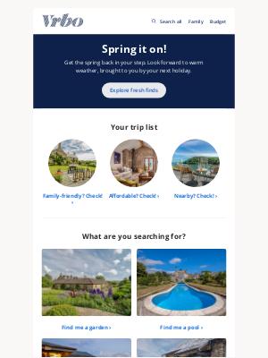 HomeAway (UK) - Spring is in the wings