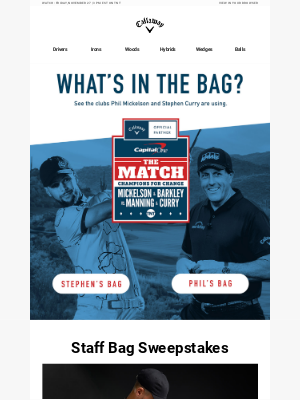 Callaway Golf - Enter For A Chance To Win A Signed Callaway Staff Bag