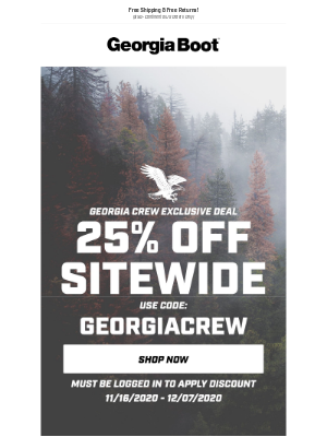 Georgia Boot - FINAL HOURS | 25% Off Sitewide!