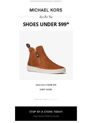 Michael Kors - Just For You: Shoes Under $99