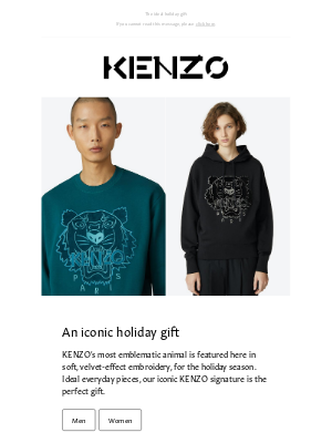 Kenzo - Don't miss out this new Tiger edition