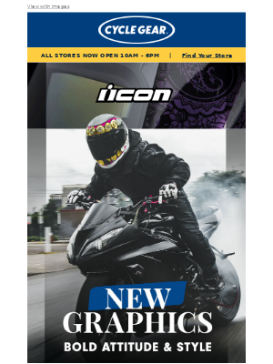 Cycle Gear - NEW bold styles from ICON