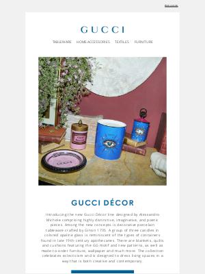 Gucci (UK) - For the Home: Gucci Décor New Romantics