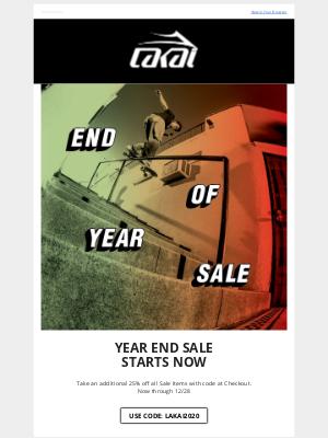 Lakai Footwear - Year End Sale: Extra 25% Off