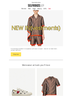 Selfridges (UK) - Take a look at what's just dropped...