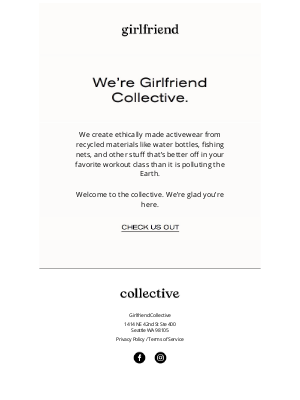 Girlfriend Collective - Ethical, sustainable, cute af.