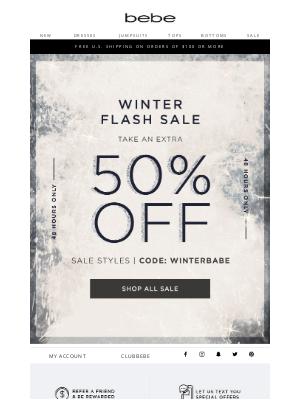 bebe - FLASH SALE! 🚨Extra 50% Off Sale