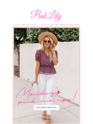 The Pink Lily Boutique - new week = new arrivals!
