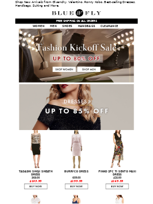 Fashion Kickoff Sale Up to 80% Off
