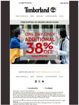 1-DAY ONLY   Take 38% OFF Today!