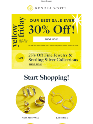 Kendra Scott - Celebrate Friendsgiving with 30% Off!