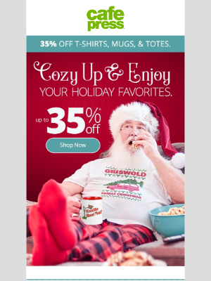 CafePress - Our Christmas Movie Shop is open! Up to 35% OFF!