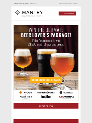Enter to win $3,500 in Beer Gear