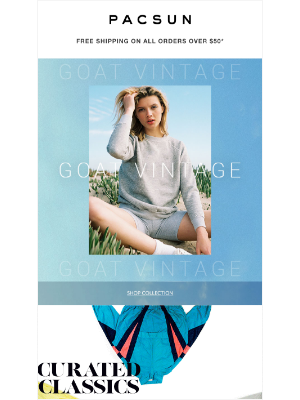 NEW @ PacSun: One-Of-A-Kind Styles From GOAT Vintage