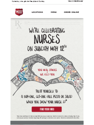 Paging: nurses who love pizza