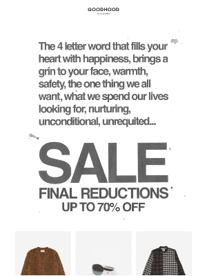 The Goodhood Store - Final reductions | Up to 70% off