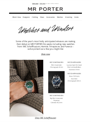 MR PORTER - The best new releases from Watches and Wonders
