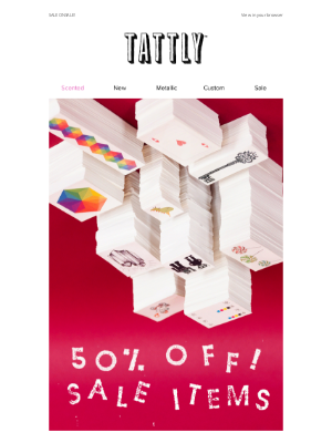 Last day! 50% Off Sale Items