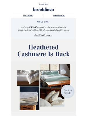 Brooklinen - New Heathered Cashmere is here!