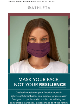 Keep Moving with Athleta Face Masks