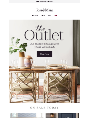 The OUTLET is live.