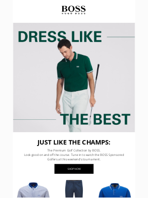 HUGO BOSS - These Styles are Par for the Course