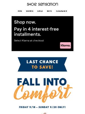 Shoe Sensation Inc - 🔥 Last Chance to SAVE 20% OFF!