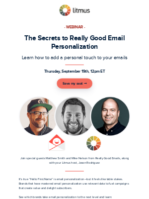 Webinar: Learn the secret to really good email personalization