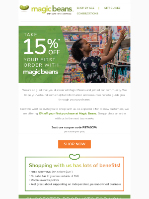 Magic Beans - 48 Hours Only! Take 15% off your first order at mbeans.com