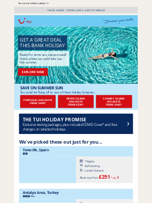 TUI (UK) - Don't miss out on a bank holiday deal
