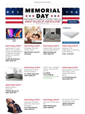 Costco - Shop all Memorial Day Deals Ending Friday, 6/4/21!