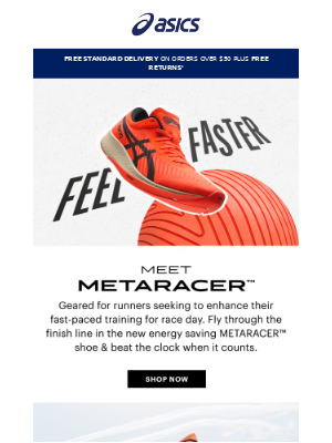 The new METARACER™ shoe has arrived