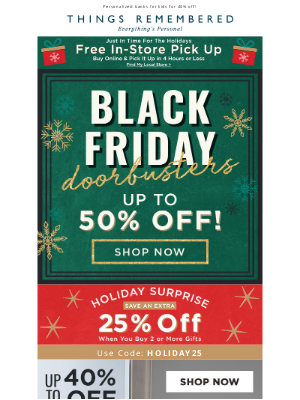 Things Remembered - Black Friday Deals are Here - 40% Off Kids' Banks