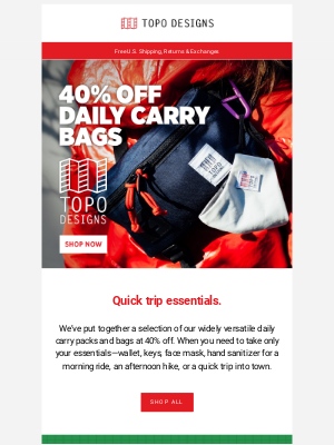Topo Designs - 40% Off Daily Carry Bags