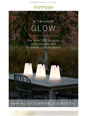 A new look for solar lanterns.
